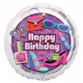Glitzy Happy Birthday - folija balon