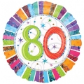 RADIANT 80. ROĐENDAN folija balon