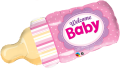 Welcome Baby Bottle Pink - folija balon