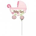 BABY BUGGY GIRL - folija balon na štapiću