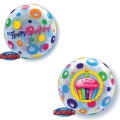 HBDAY CUPCAKE & DOTS - bubble balon