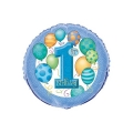1st Birthday Blue - folija balon