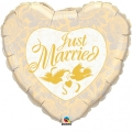 JUST MARRIED HEART folija balon