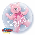 BABY GIRL PINK - double bubble balon