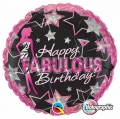 Happy Fabulous Birthday - folija balon