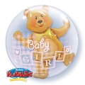 BABY GIRL BEAR bubble balon