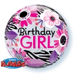 BIRTHDAY GIRL bubble balon