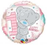 Me to you tiny Tatty 1st bday girl - folija balon