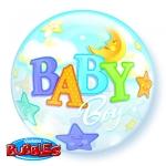 BABY BOY & MOON - bubble balon