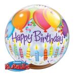 HBDAY BALLOONS & CANDLES - bubble balon