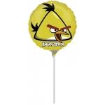 YELLOW ANGRY BIRD - folija balon na štapiću