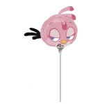 PINK ANGRY BIRD - folija balon na štapiću