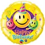 Happy Birthday Smiley Faces