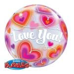 LOVE YOU - bubble balon