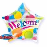 WELCOME STAR bubble balon