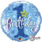 1. Rođendan plava zvijezda - folija balon