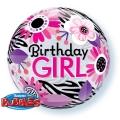 BIRTHDAY GIRL bubble balon