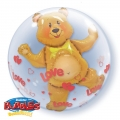 Love Hearts & Bear 24""