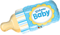 Welcome Baby Bottle Blue - folija balon