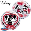 MICKEY & MINNIE I LOVE YOU - bubble balon