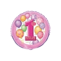 1st Birthday Pink - folija balon