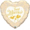 JUST MARRIED HEART folija balon