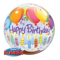 HBDAY BALLOONS & CANDLES - bubble balon