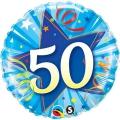 50 Star Blue - folija balon