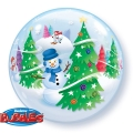 Snowman Bubble balon