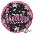 Happy Fabulous Birthday - folija balon