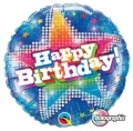 Birthday Dazzling Star Blue - folija balon