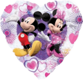 Mickey & Minnie Heart - holographic