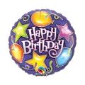 SRETAN ROĐENDAN STARS & BALLOONS folija balon