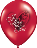"""I Love You-Red Rose - 11"""""""