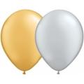 "5"" Lateks Baloni - Gold & Silver"
